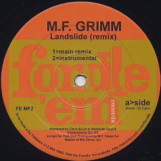 M.F. Grimm / Landslide back