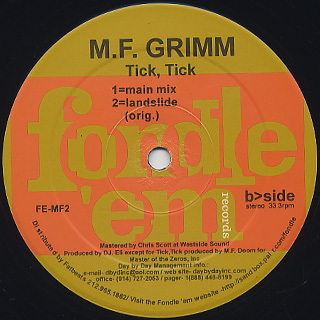 M.F. Grimm / Landslide label