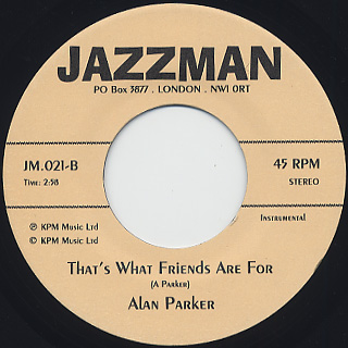 Madeline Bell / Alan Parker - That's What Friends Are For back