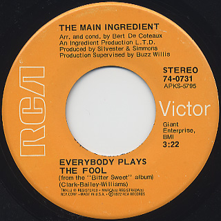 Main Ingredient / Everybody Plays The Fool