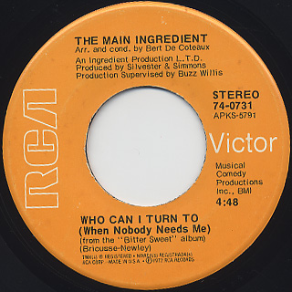 Main Ingredient / Everybody Plays The Fool back
