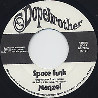 Manzel / Space Funk c/w Midnight Theme label