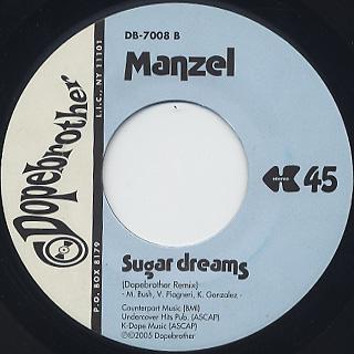 Manzel / Sugar Dreams back