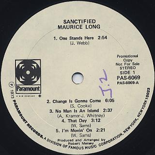 Maurice Long / Sanctified label