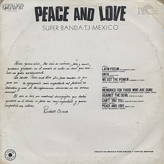 Peace And Love / S.T. back