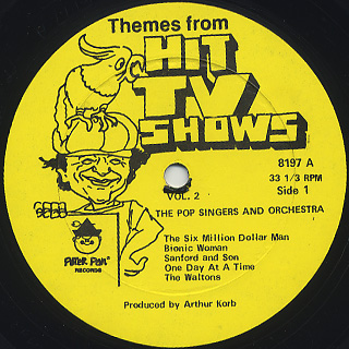 Pop Singers And Orchestra / Themes From Hit TV Show vol.2 label