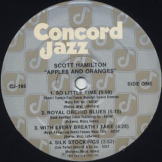 Scott Hamilton / Apples And Oranges label