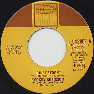 Smokey Robinson / Quiet Storm(45) front