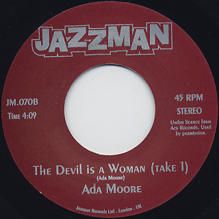 Ada Moore / The Devil Is A Woman back