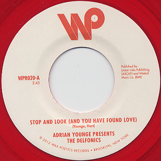 Adrian Younge presents The Delfonics / Stop and Look(And You Have Found Love) label