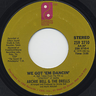 Archie Bell & The Drells / Strategy back