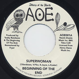 Beginning Of The End / Superwoman c/w That's What I Get