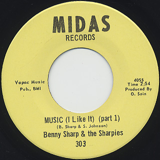 Benny Sharp & The Sharpies / Music (I Like It) (Part 1)