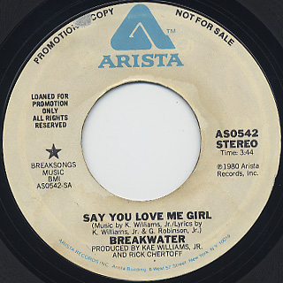 Breakwater / Say You Love Me Girl front