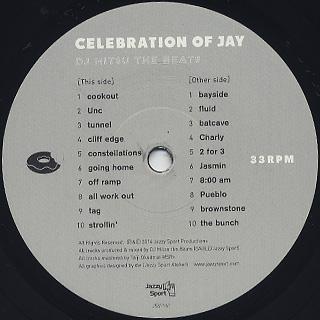 DJ Mitsu The Beats / Celebration Of Jay (LP) label