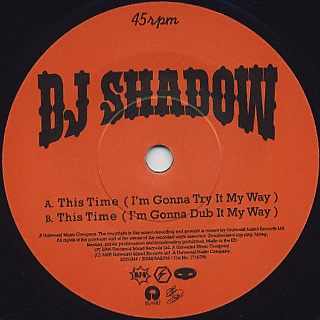 DJ Shadow / This Time label