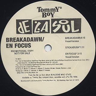 De La Soul / Breakadawn label