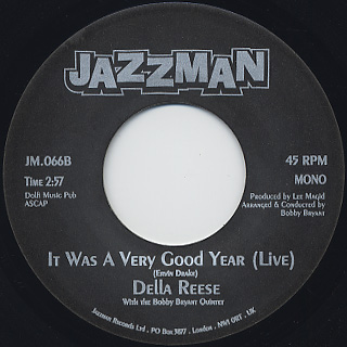 Della Reese / It Was A very Good Year back