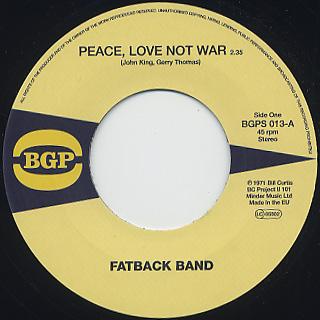 Fatback Band / Peace, Love Not War