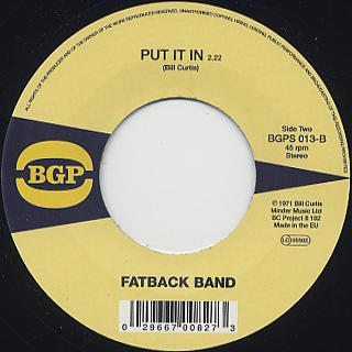 Fatback Band / Peace, Love Not War back