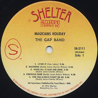 Gap Band / Magicians Holiday label