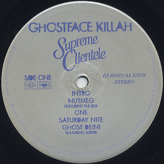 Ghostface Killah / Supreme Clientele label