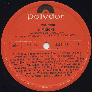 Gimmicks / Simsalabim label