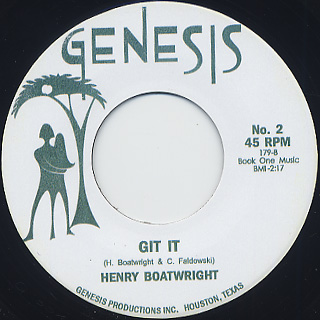 Henry Boatwright / The African Slide back