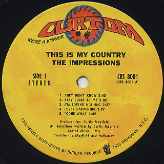 Impressions / This Is My Country label