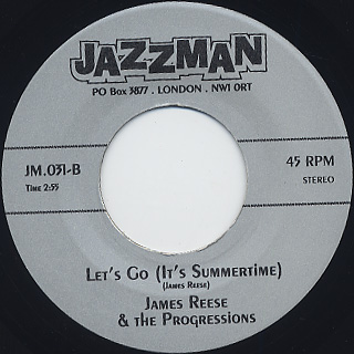 James Reese & The Progressions / Jody's Freeze back