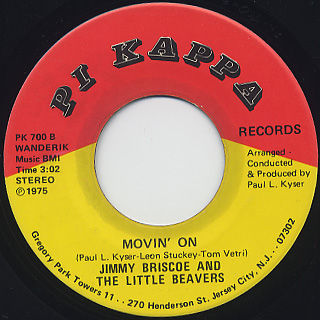 Jimmy Briscoe And The Little Beavers / I'll Care For You c/w Movin' On back
