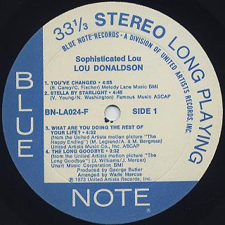 Lou Donaldson / Sophisticated Lou label