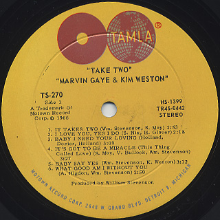 Marvin Gaye & Kim Weston / Take Two label