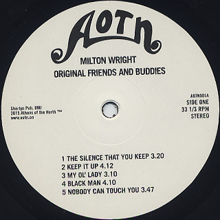 Milton Wright / Friends and Buddies label