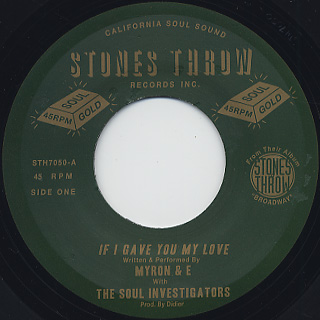 Myron & E / If I Gave You My Love front