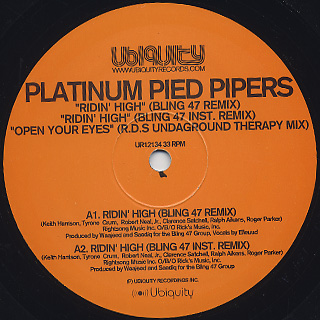 Platinum Pied Pipers / Ridin' High (Bling 47 Remix) back