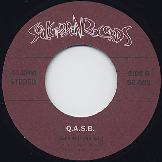 Q.A.S.B. / We Need The Funk back