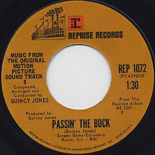 Quincy Jones With Don Elliott Voices / Money Runner back