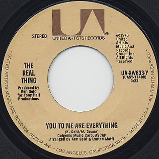 Real Thing / You To Me Are Everything c/w Keep An Eye
