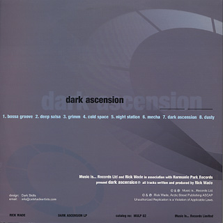 Rick Wade / Dark Ascension back