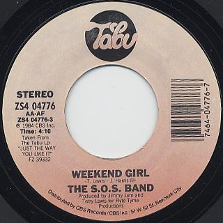 S.O.S. Band / Weekend Girl c/w Feeling