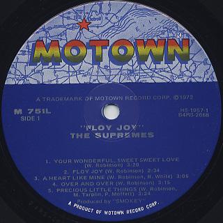 Supremes / Floy Joy label