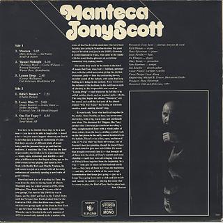 Tony Scott / Manteca back
