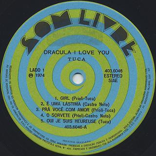 Tuca / Dracula I Love You label