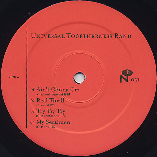 Universal Togetherness Band / S.T. label