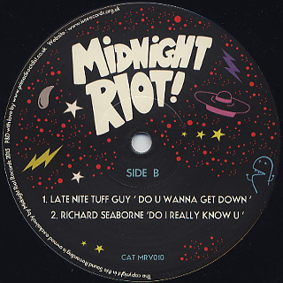 V.A. / Midnight Riot! Volume 8 Sampler back