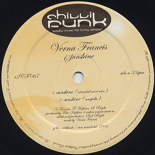 Verna Francis / Sunshine label