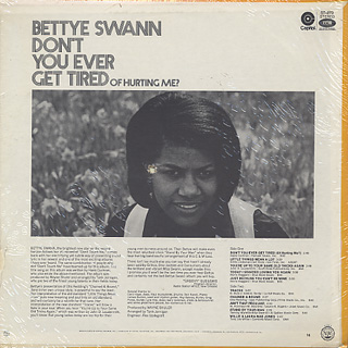 Betty Swann / Don't You Ever Get Tired Of Hurting Me? back