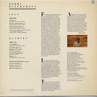 Bobby Hutcherson / Solo Quartet back