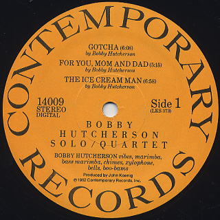 Bobby Hutcherson / Solo Quartet label